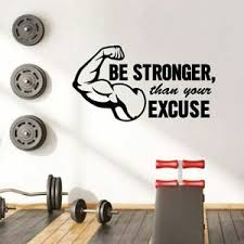 Be Strong Workout Motivation Quote Wall Sticker Vinyl Art Home Room Decals Decor Ebay