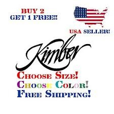 Kimber Decal Sticker Free Shipping Buy 2 Get 1 Free Ebay