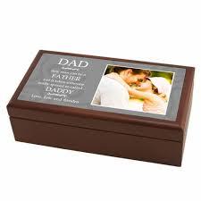 daddy personalized wood photo keepsake box