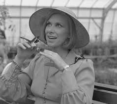 Wendy Craig, English actress, with butterflies #4469857 Framed Prints