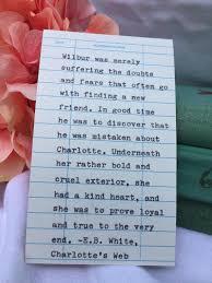 charlotte s web quote e b white quote library due date