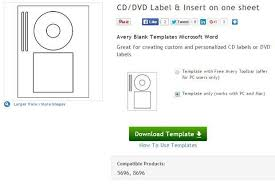 cd and dvd labels using free ms word