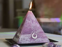 soul terra pyramid candle with hidden