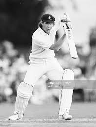 Australian cricketer Dean Jones batting ...