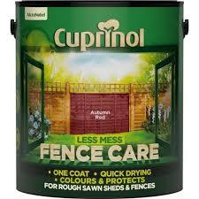 Cuprinol Fence Care Autumn Red 6ltr Coolings Garden Centre