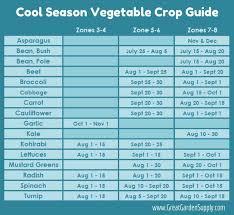 cool season vegetable crop guide