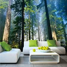 Amazon Com Dalxsh 5d Murals Forests Wallpaper Nature Fog Trees 3d Wall Photo Mural Forest Wall Paper For Background Bedroom 3d Wall Murals 350x250cm Furniture Decor
