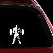 Amazon Com Ytedad Car Sticker Car Decal Huge Muscular Man Lifting A Barbell Car Decal And Graphics Car Body Window Door Rear Windshield Home Kitchen