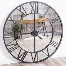 extra large mirrored wall clock