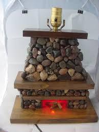stone fireplace lamp each piece unique