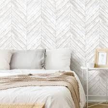 Herringbone Wood Boards Removable Wallpaper Wall Decal Art Com