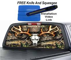 Cool Deer Camo Rev 2 Rear Window Graphic Decal For Trucks Van And Suv S Rear Window Van Trucks