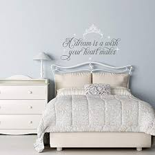 Amazon Com A Dream Is A Wish Your Heart Makes Cinderella Wall Decal Fairy Wall Decal Cinderella Girls Room Decor Cinderella Quotes Wall Decals Home Kitchen