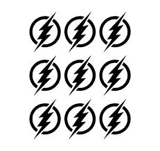 Flash Symbol Vinyl Decals Phone Laptop Helmet Small 1 5 Stickers Kandy Vinyl Shop