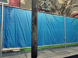 Second Life Marketplace Fence Tarp Blue Mesh 1 Prim Each