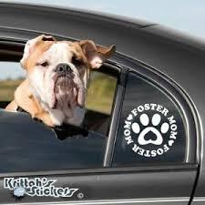 Foster Mom Dog Paw Vinyl Decal Pet Adoption Animal Rescue Heart Car Sticker K511 Ebay