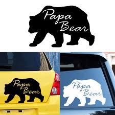 New Design Papa Bear Car Stickers Rearview Mirror Decal Car Window Bumper Cute Waterproof Removable Buy At The Price Of 1 52 In Aliexpress Com Imall Com