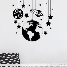 Planet Wall Stickers Rocket Decals Nursery Room Decor Space Ship Vinyl Wall Decal Kids Room Boys Bedroom Wall Art Decoration Wall Stickers Decor Wall Stickers Decoration From Joystickers 14 2 Dhgate Com