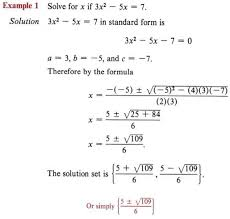 solve quadratic equation with step by