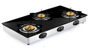 erfly grand 3 burner glass top gas