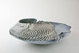 Adela Powell 33. Blue Shell Form 14 x 41 x 33 cm £640 RESERVED   Sladers  Yard