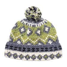 Edmund Hillary Green Wool Bobble Hat   The Rake