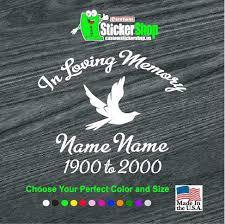 Dove In Loving Memory Window Decal Sticker Custom Sticker Shop