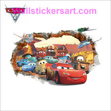 3d Diy Pixar Car 3 Lightning Mcqueen Free Shipping Photo Pvc Wall Decals Adhesive Family Walll Stickers Mural A Art Wall Kids Decal Wall Art Wall Stickers Kids