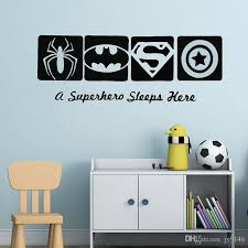 Creative Super Hero Wall Decals Vinyl Self Adhesive Marvel Wall Art Sticker For Kids Room And Nursery Decoration Custom Wall Sticker Custom Wall Stickers From Jy9146 3 37 Dhgate Com
