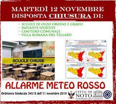 Comune di Noto - ❌ALLERTA METEO ROSSA, DOMANI 12 NOVEMBRE ...