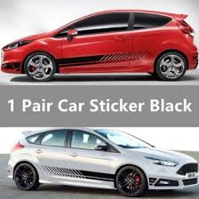 Shop Sports Racing Stripe Graphic Stickers Truck Auto Car Body Side Door Vinyl Decals Online From Best Wall Stickers Murals On Jd Com Global Site Joybuy Com