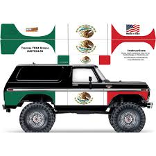 Mexican Flag Traxxas Trx4 Ford Bronco Body Skin Wrap Decal Ultradecals Powerhobby Com