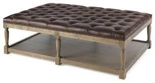 mariana tufted leather ottoman