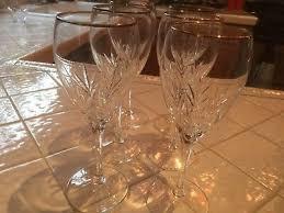 crystal gold rimmed wine glasses