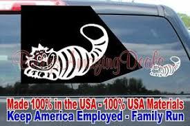 6 All Mad Here Vinyl Decal Sticker Car Window Laptop Cheshire Cat Alice Disney