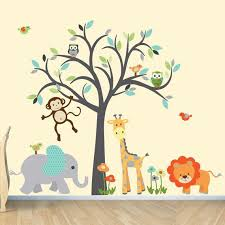 Boy Room Wall Decal Wall Stickers Safari Animal Wall Decal Etsy Jungle Wall Stickers Safari Animal Wall Decals Jungle Wall Decals