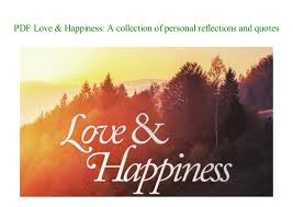 e book love happiness a collection of personal reflections and quo