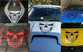 Sugar Skull Rose Graphic Tailgate Hood Window Decal Vehicle Truck Car Suv Vinyl For Sale Online Ebay