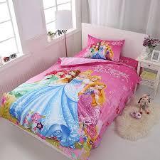 Super Deal 4d181 Pink Disney Princess Bedding Set For Kids Bedroom Decor Twin Quilt Duvet Cover Set Single Bed Sheet Girls Home Children 2 4 Pcs Cicig Co