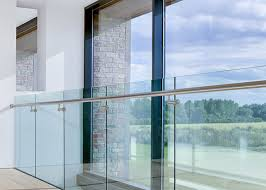 exterior u channel glass railing system
