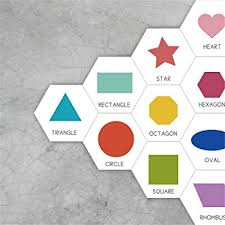 Amazon Com Wall Stickers For Kids Bedroom Shape Hex Wall Decals For Toddler S Bathroom Baby S Nursery Removable Peel And Stick Decor 10pcs Baby