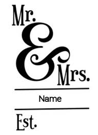 Mr Mrs Est Add Name Wall Decor Gift Idea Wedding Vinyl Decal For Cars Walls Tumblers Cups Laptops Windows Bumper Sticker Laptop Car Name Wall Decor Vinyl Decals Car Decals