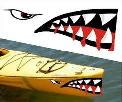 Shark Teeth Mouth Decal Stickers Kayak Canoe Jet Ski Hobie Dagger Ocean Boat 7 Ebay