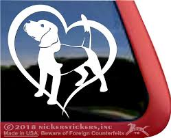 Beagle Heart Dc311hrt High Quality Adhesive Vinyl Dog Etsy Dog Window Adhesive Vinyl Vinyl Window Decals