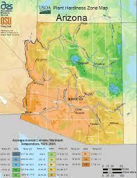 arizona planting zones usda map of
