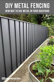 Diy Metal Fencing Update Your Backyard With Metal Metal Garden Fencing Metal Fence Panels Metal Fence
