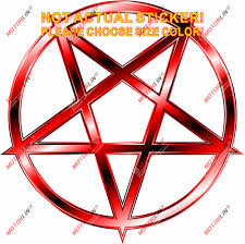 Triple Moon Style B Vinyl Sticker Decal Goddess Wicca Pentacle Choose Size Color