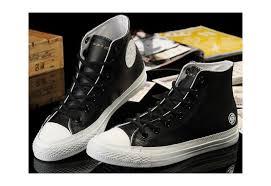 converse shoes black white x subcrew
