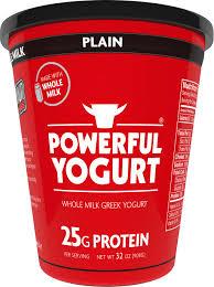 fat free plain whole milk greek yogurt