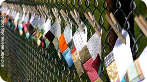 Quilt Squares On A Chain Link Fence In August Michele Made Me